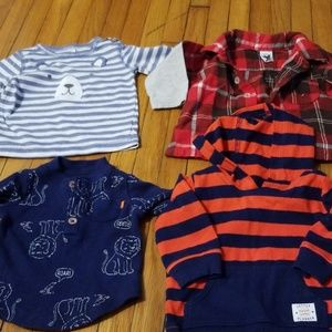 Carters lot of long sleeve warm weather tops